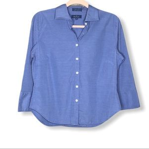 Facconable Shaped Cotton Button Down Shirt Sz Med